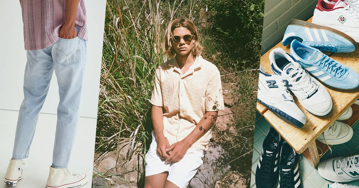 3 split images of clothing similar to urban outfitters