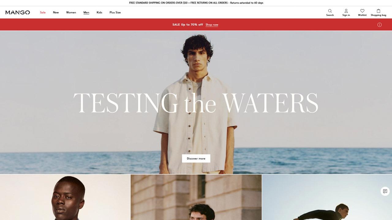 homepage of mangoman