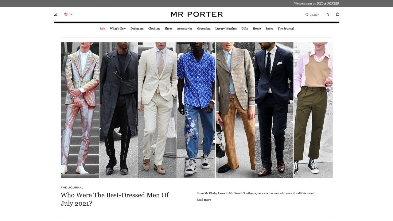 mr. porter homepage