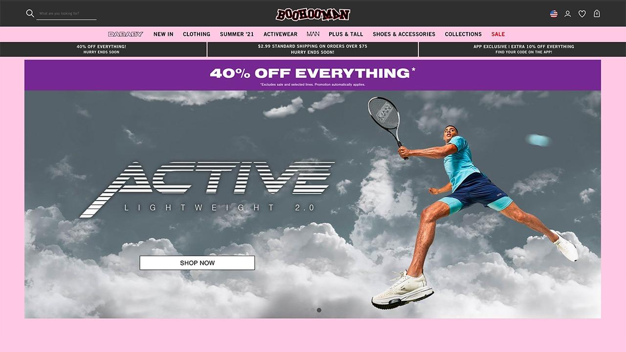 boohoo men's home page