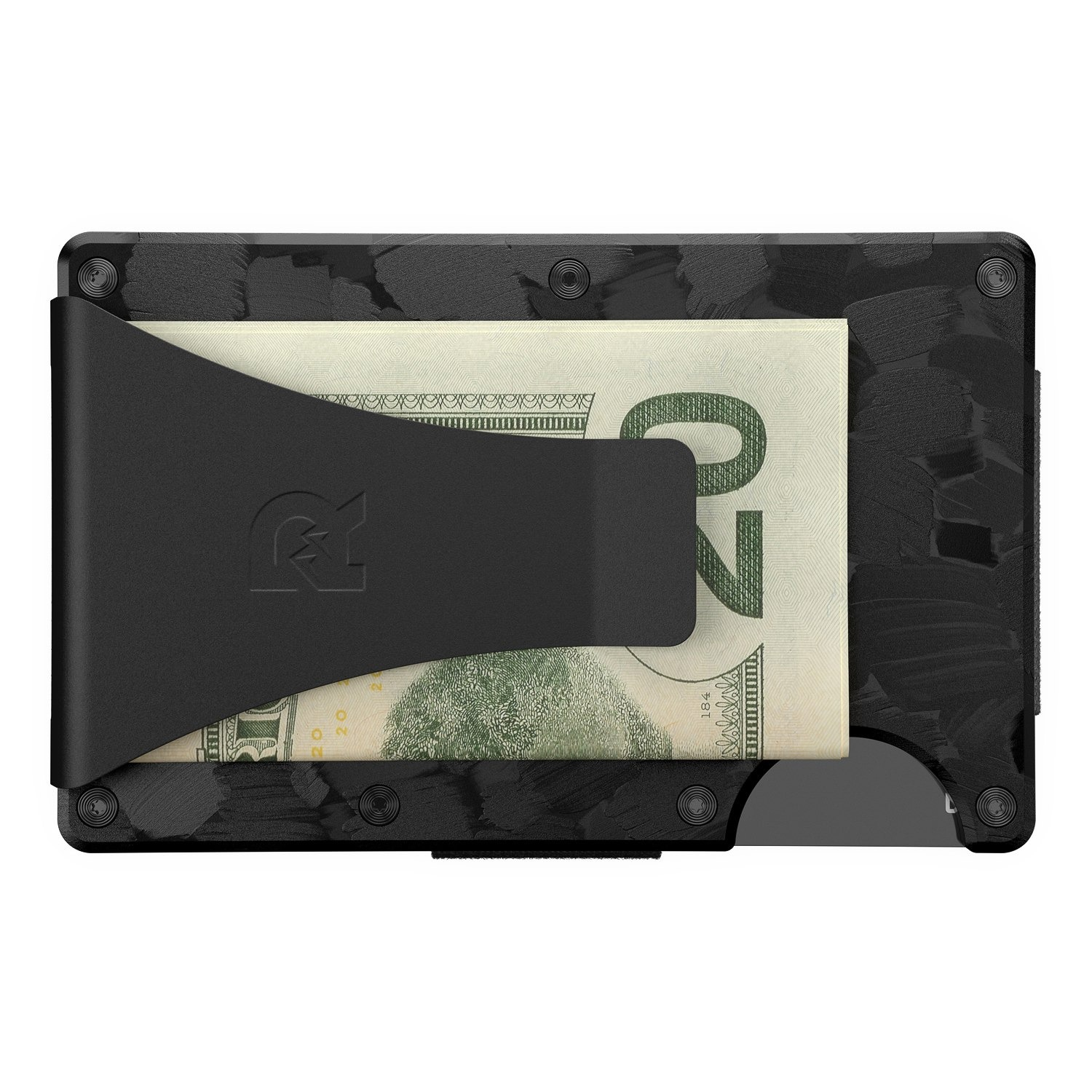 The Ridge Forged Carbon Wallet + Money Clip