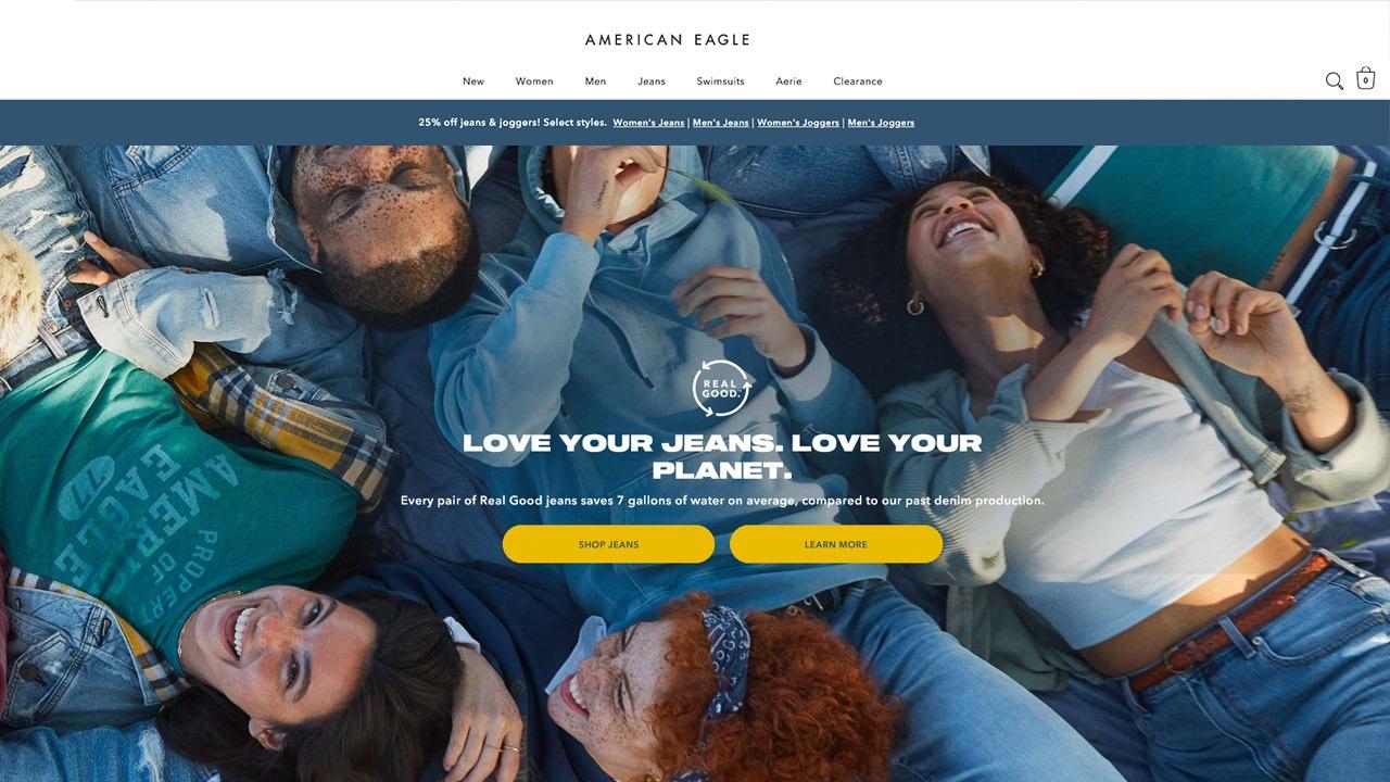 american eagle homepage