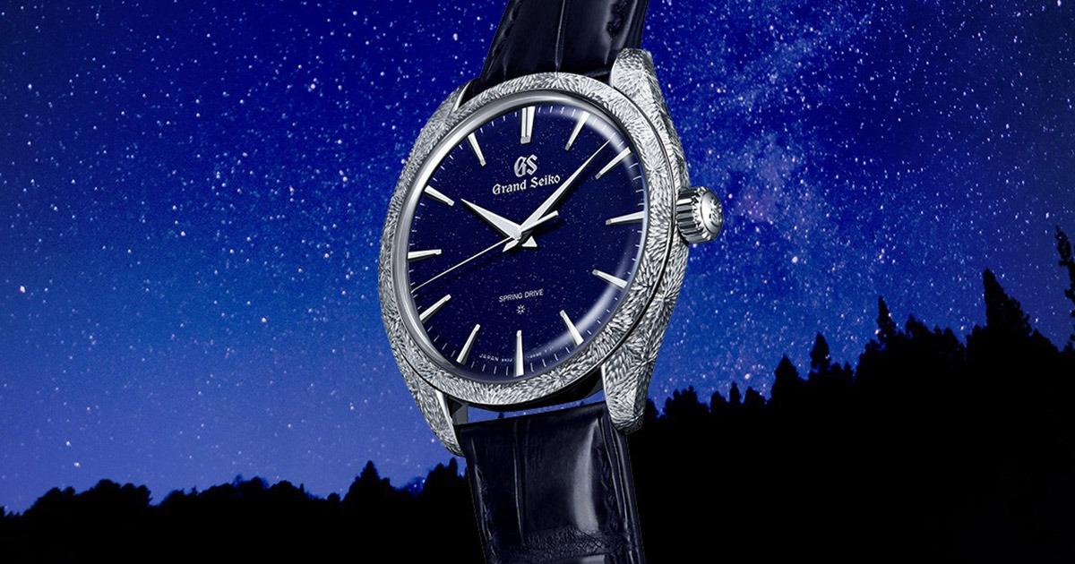 night sky background with grand seiko