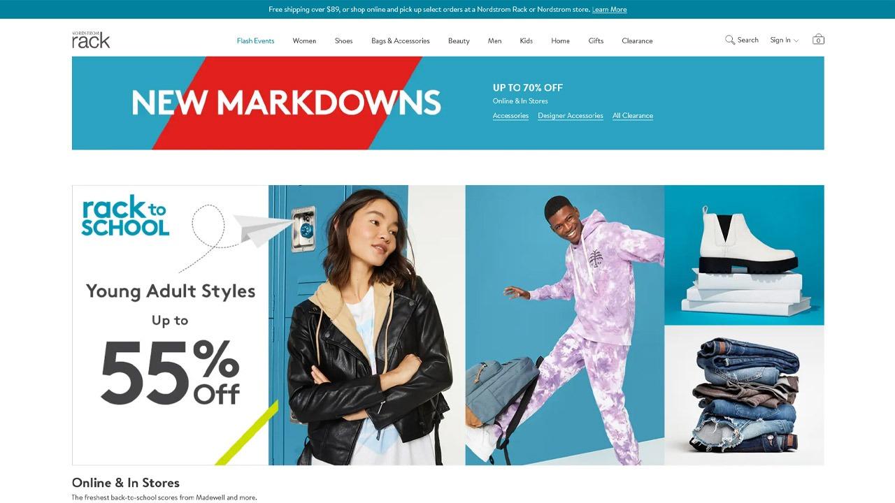 nordstrom rack homepage