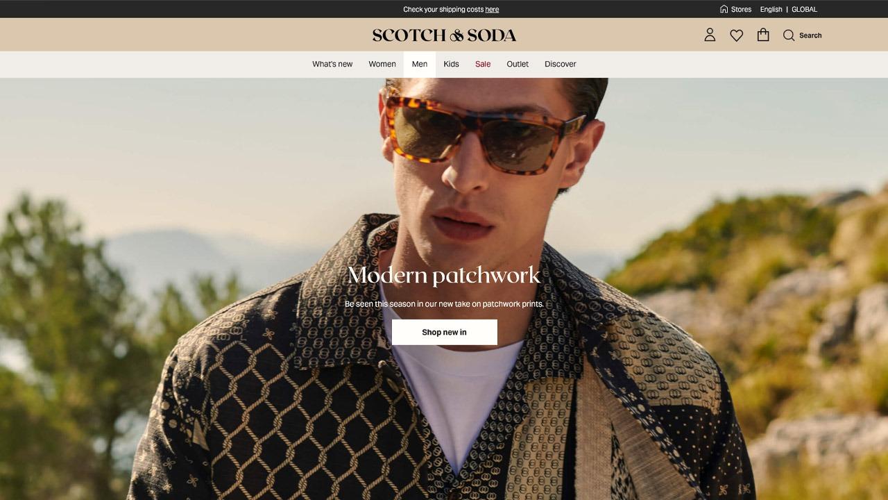 scotch & soda homepage