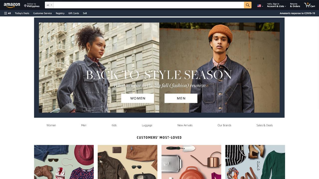 amazon fashion homepage