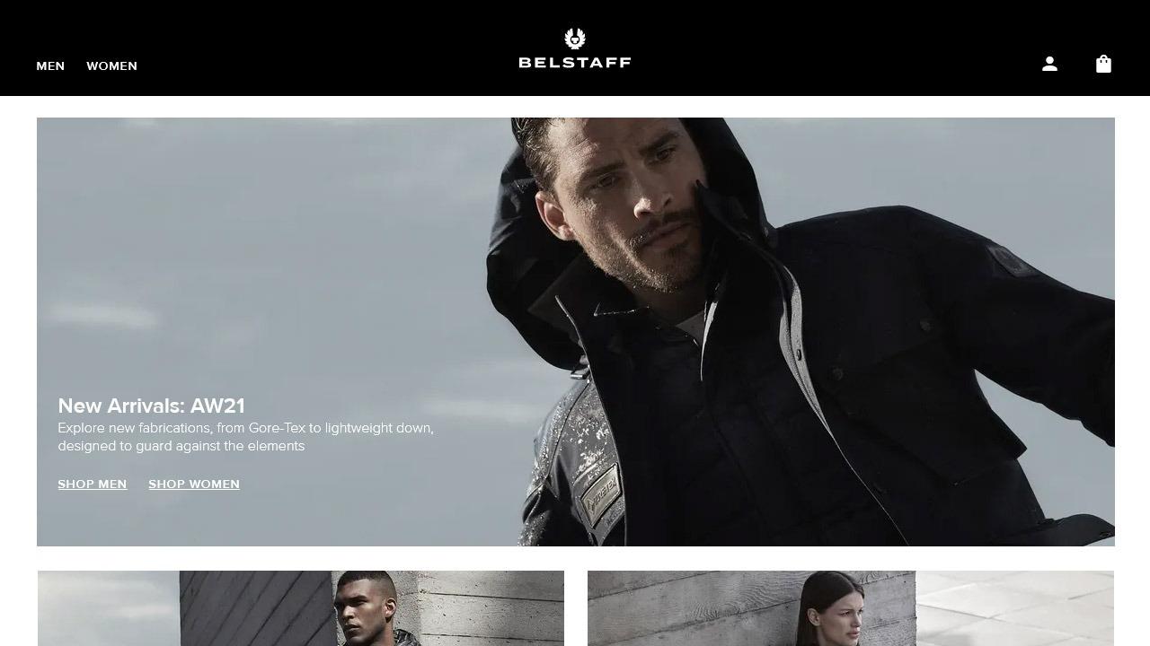 belstaff homepage