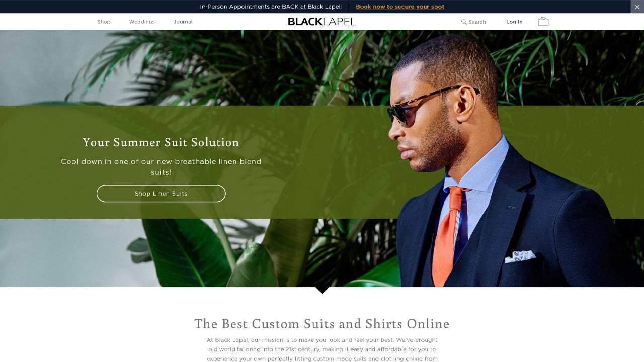 black lapel homepage