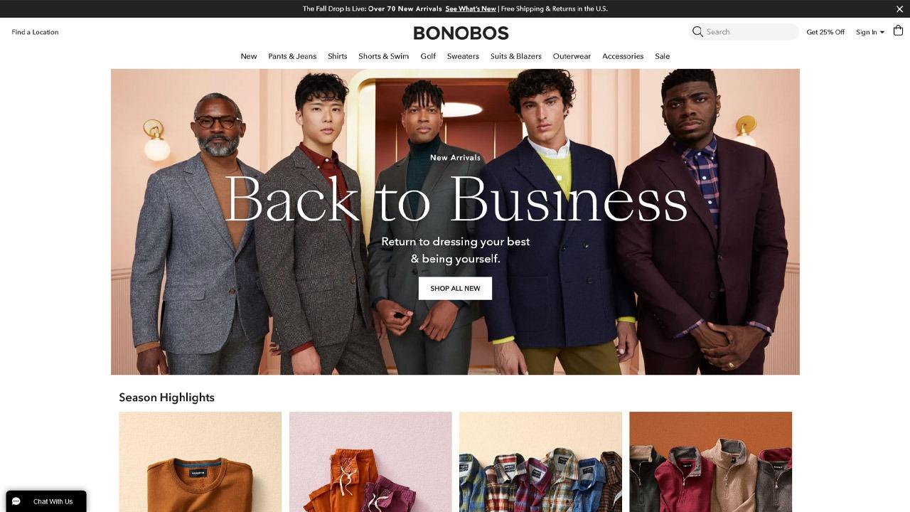 bonobos homepage