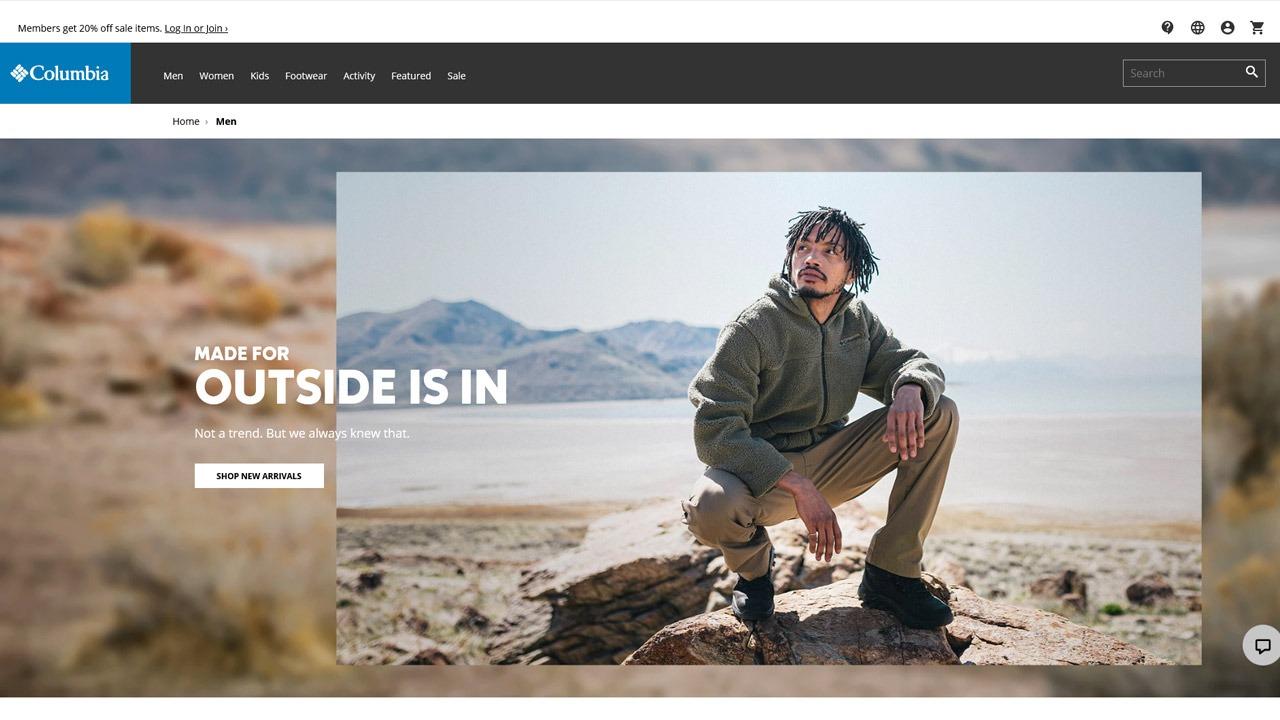 columbia homepage