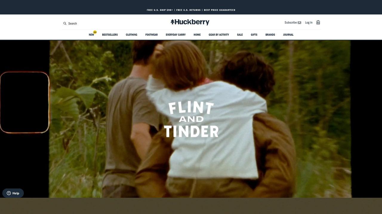 flint and tinder homepage