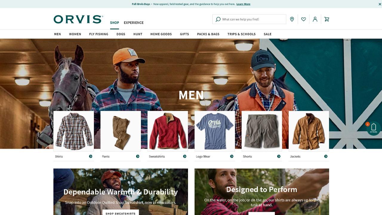 orvis homepage