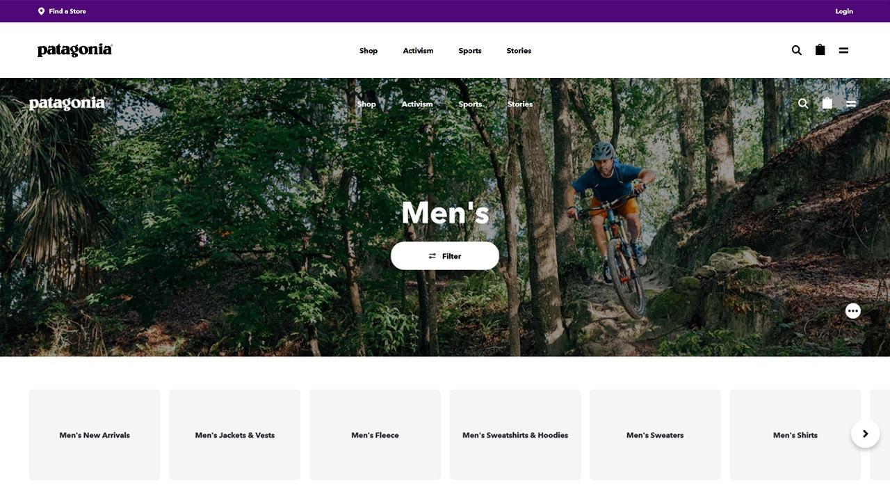 patagnonia homepage