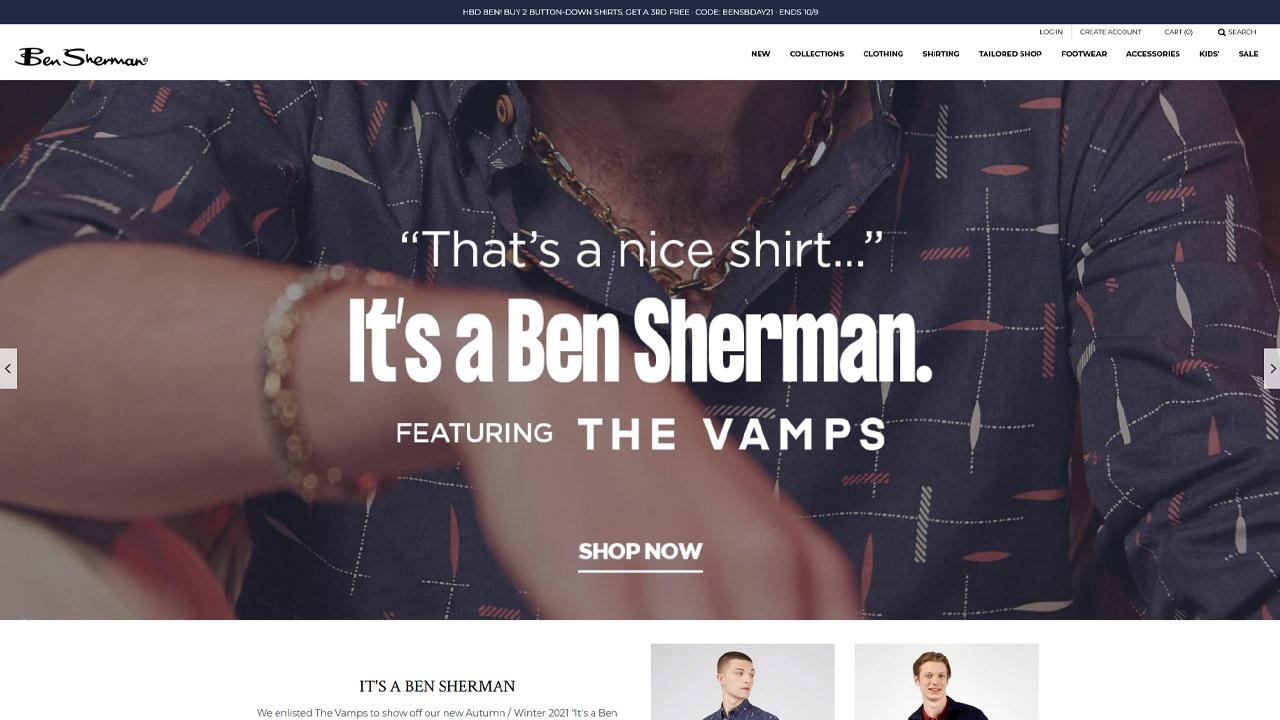 ben sherman homepage